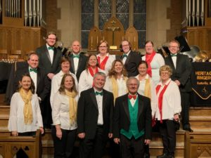 Christmas Concert, Trinity United Methodist Church:  (Front L-R) Claire Strand, Rhonda Gaede, Chad Rutherford, Shane Kennedy, (Row 2) Ron Jones, Julie Anderson, Heather Batchelor, Lori Kegley, Beth Dortch, Barbara Wood, (Rear) Sean Teater, Fred Baier, Julee Martin, Caroline Higgins, Anna Pruitt, Lucas Pruitt (12/3/2018)
