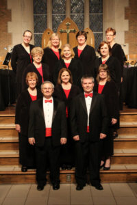 Christmas Concert, Trinity United Methodist Church:  (Front L-R) Shane Kennedy, Chad Rutherford, (Row 2) Susan Sadler, Heather Batchelor, Rhonda Gaede, (Row 3) Barbara Wood, Jessica Burks, Julee Martin, (Rear) Caroline Mathias, Carol Kimball, Julie Anderson, Amy Cherry (12/2012)