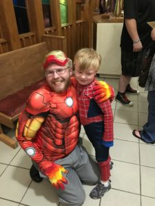 Disney Concert, Trinity United Methodist Church:  Iron Man and Spider Man (5/2/2016)