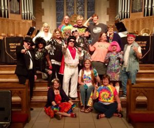 Rock Concert, Trinity United Methodist Church:  (Front L-R) Rhonda Gaede, Julee Martin, Julie Anderson, (Row 2) Ron Jones, Beth Dortch, Lori Kegley, Shane Kennedy, Caroline Higgins, Heather Batchelor, Christy Dawson, Chad Rutherford (Rear) Claire Strand, Fred Baier, Carol Kimball, Amy Cherry, Barbara Wood (5/1/2017)